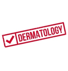 Dermatology rubber stamp vector