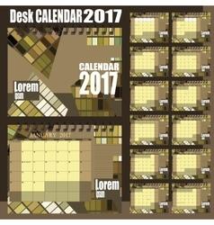 Desk calendar 2017 vector