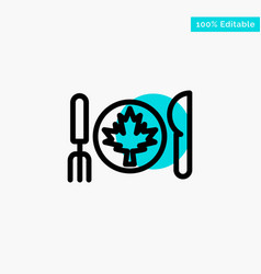 Dinner autumn canada leaf turquoise highlight vector