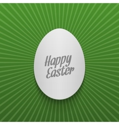 Easter greeting Card Template Realistic paper Egg vector image