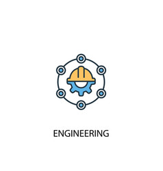 engineering concept 2 colored line icon simple vector image