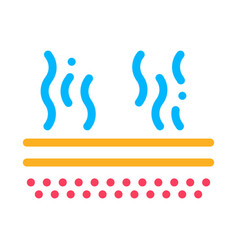 Evaporation icon outline vector