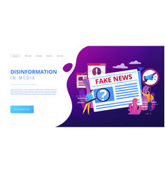 fake news concept landing page vector image