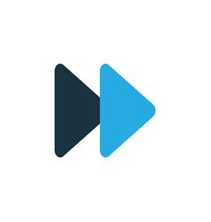 Fast forward colorful icon symbol premium quality vector