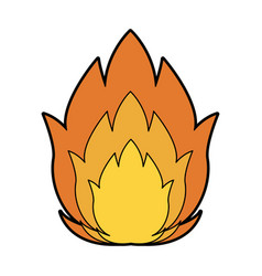 Featuring a camp fire burning brightly design vector