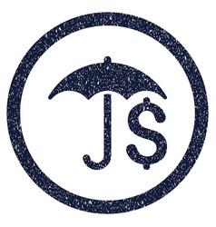 Financial umbrella rounded grainy icon vector