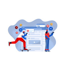 flat modern design social media vector image