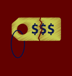flat shading style icon sale tag money vector image