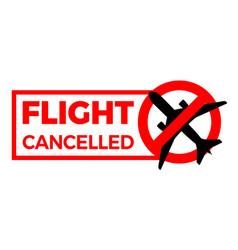 Flight cancelled airplane covid-19 coronavirus vector