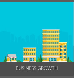 Growth of business buildings of company small vector