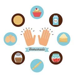 Homemade food vector