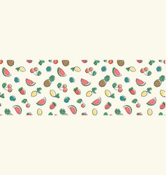 horizontal seamless pattern with cute doodle vector image
