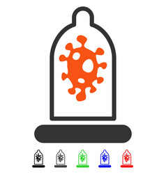 Infection protection flat icon vector