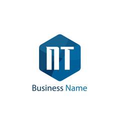 Initial letter nt logo template design vector