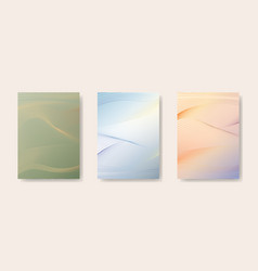 japanese background set card line wave pattern vector image