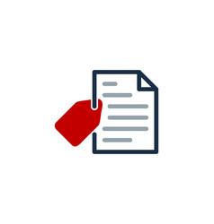 Label document logo icon design vector