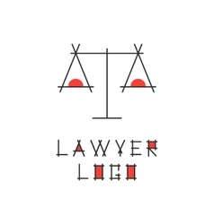 lawyer logotype with abstract scales vector image