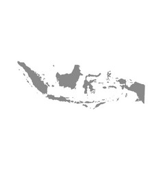 Map indonesia isolated gray on white background vector