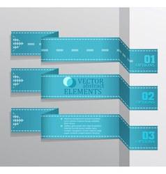 Modern blue banner item vector