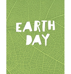 Nature background with Earth day headline Green vector image