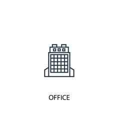 office concept line icon simple element vector image