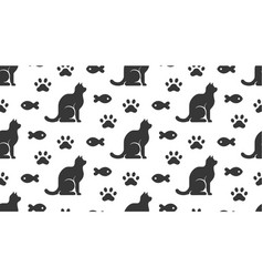 pet shop seamless pattern with flat icons vector image