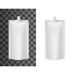 plastic package liquid soap or sauce sachet pack vector image
