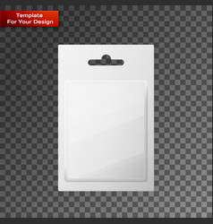 Plastic transparent blister with hang slot vector