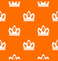 Queen crown pattern seamless vector