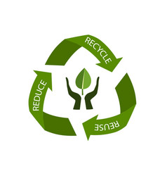 recycling arrows symbol isolated on white vector image