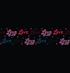 Red brush stroke dotty love hearts with denim blue vector