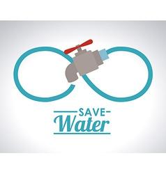Save water design vector