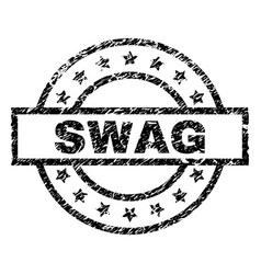Scratched textured swag stamp seal vector