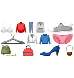 Set clothes mock up vector