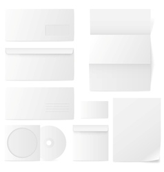Set paper envelopes vector