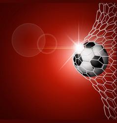 soccer ball in goal red vector image