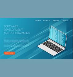 Software development and programming program code vector
