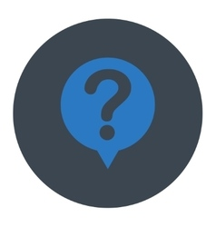 Status flat smooth blue colors round button vector