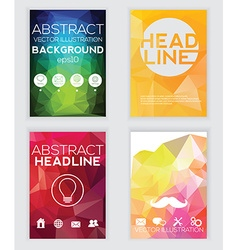 Templates Design Set of Web Mail Brochures Mobile vector