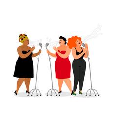 trio international singers vector image