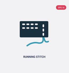 Two color running stitch icon from sew concept vector