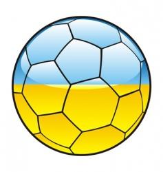 Ukraine flag on soccer ball vector