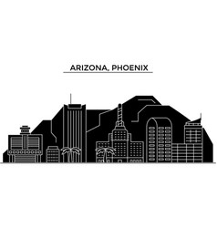 Usa arizona phoenix architecture city vector