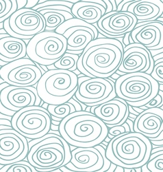 Waves hand drawn pattern background curled vector