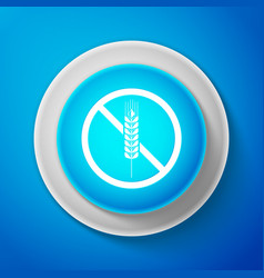 white gluten free grain icon no wheat sign vector image