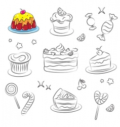 holiday sweets 2 is v vector image vector image