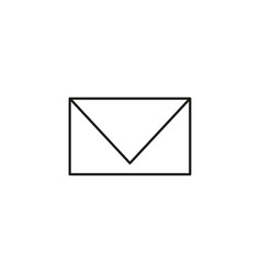 simple mail line icon vector image vector image