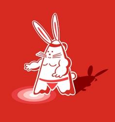 sumo rabbit vector image vector image