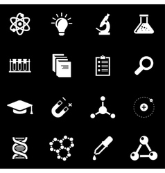 white science icon set vector image