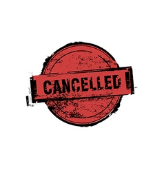 Cancelled stamp badges vector image vector image
